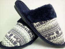 NAVY BLUE  HOUSE SHOES  SLIPPERS NEW FREE SHIPPING SIZE 5 THRU 10