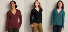 EDDIE BAUER womens Donegal Cable Cardigan Sweater XS,PXS,PS,PM  REG &  PETITE