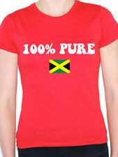 100% PURE JAMAICAN - Jamaica / Caribbean / Flag / Novelty Themed Womens T-Shirt