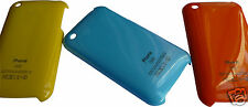 HARD GLOSSY PLASTIC BACK CASE COVER FOR MOBILE I PHONE 3G/3GS MODELS