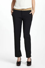 ANTHROPOLOGIE Camel-Blocked Crops Pants By Cartonnier Various Sizes NWT Black