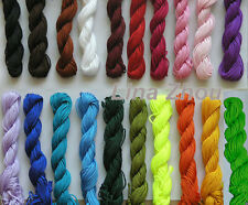 1.5MM Chinese Knot Macrame /Rattail Braided Nylon Bead Cord Thread Muti Color
