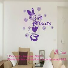 Disney Daisy DUCK Personalised Girl's  Name Wall Sticker Art Decal Vinyl D2