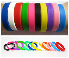 Fashion Silicone Rubber Elasticity Wristband Wrist Band Cuff Bracelet Bangle New
