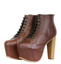 Jeffrey Campbell Lita Womens Platform Shoes Brown