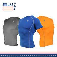 Men COOVY Compression Base Layer Workout Gym Running Clothes Short Sleeve Shirt