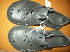 CHILDRENS  SLIP ON SANDALS PLASTIC SHOES WITH VELCRO BLACK COLOR