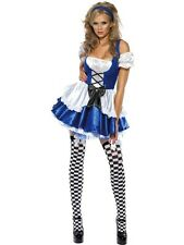 LADIES FEVER ALICE IN WONDERLAND FAIRYTAIL FANCY DRESS COSTUME SEXY OUTFIT XS-L