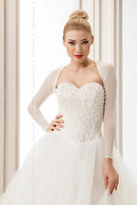 NEW Bridal Ivory / White Tulle Bolero Shrug Wedding Jacket   S/M - L/XL -B116
