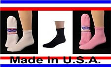 3, 6 or 12 Pair Men's Women's Diabetic Cushioned Ankle 1/4 Quarter Socks Sizes