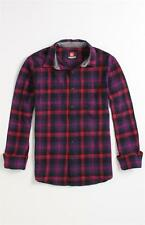 Quiksilver Marcos Woven Flannel Mens Plaid Long Sleeve Button Up Shirt NWT