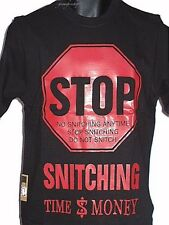 STOP SNITCHING KIDS T SHIRTS, HIP HOP CHILDRENS' TEES, RAP, URBAN TIME IS MONEY