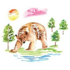 Bear and Trees Watercolor  Tshirt  Sizes/Colors