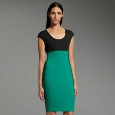 NWT Narciso Rodriguez for DesigNation colorblock ponte sheath dress sz. S