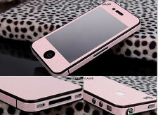 GLOSSY DIAMOND SPARKLING APPLE IPHONE 4 4S FULL BODY WRAP STICKER SKINS