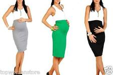 Top Woman Maternity Pencil Skirt Over Bump Pregnancy Clothes Size 10 12 14 16