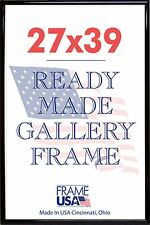 27x39 Deluxe Poster Frame Pack of 3 Frames - Black, Silver or Gold