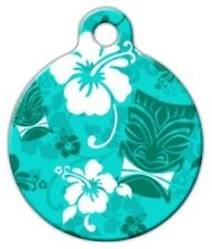 TURQUOISE TIKI - Custom Personalized Pet ID Tag for Dog and Cat Collars