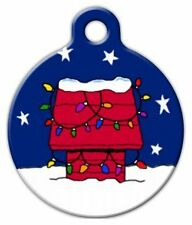 CHRISTMAS RED DOG HOUSE - Custom Personalized Pet ID Tag for Dog and Cat Collars