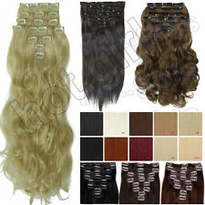 2013 Newly design Heat Resistant 8 Full Head Clip In Hair Extensions 7 Color