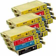 12 Generic Replacements for Epson T0615 Printer Ink Cartridges. UK VAT Invoice.