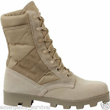 Army Marine Leather Desert Tan Jungle Boots Panama Sole