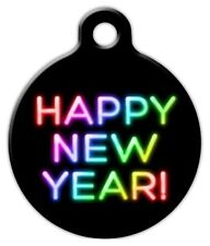 NEON NEW YEAR - Custom Personalized Pet ID Tag for Dog and Cat Collars