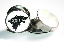 Pair Of Game Of Thrones STARK S.Steel Ear Tunnels Plug Expander Stretcher