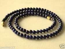 4mm Blue Lapis Lazuli Necklace Round Beads Various Lengths 4 mm Lapis Necklace