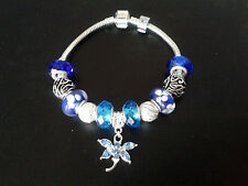 Create Your Own Personalised 925 Silver Plated Charm Bracelet Beads and Gift Box