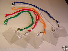5 LANYARD/LANYARDS AND 5 HOLDER/HOLDERS NECK STRAP/STRAPS ID CARD SCHOOL SAFETY