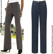 SIMPLY BE LADIES MAGIFIT JEAN STYLE TROUSERS GREY NAVY PLUS SIZES 27 & 29 LEG