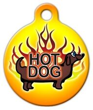 HOT DOG - Custom Personalized Pet ID Tag for Dog and Cat Collars