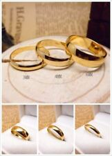 3MM~6MM 7#~12# 24K Yellow Gold Filled Classic Smooth Rings R9