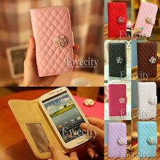 New Luxury Grid Flip Wallet Leather Case Cover For Samsung GALAXY SIII S3 i9300