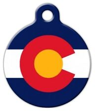 COLORADO FLAG - Custom Personalized Pet ID Tag for Dog and Cat Collars