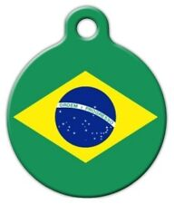 BRAZIL FLAG - Custom Personalized Pet ID Tag for Dog and Cat Collars