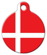 DENMARK FLAG PET - Custom Personalized Pet ID Tag for Dog and Cat Collars