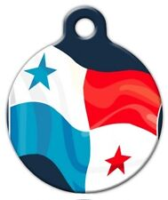 PANAMA FLAG - Custom Personalized Pet ID Tag for Dog and Cat Collars