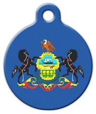 PENNSYLVANIA FLAG - Custom Personalized Pet ID Tag for Dog and Cat Collars
