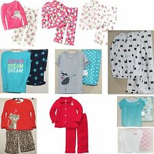 NWT Carter's Girls 2 Piece Pajamas Set  4 5 6 7 8 10 12 14 Cupcakes Christmas
