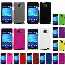 Black/White/Grey/Pink/Blue/Red Hard Rubberized Case For Samsung Galaxy S2 i777
