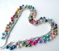 Pearl Cluster Charm Bead Choose Color for european bracelets or necklaces