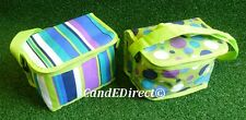 Spots or Stripes Design 6 Can 5 Litre Insulated Cool Bag Picnic Bag Camping NEW