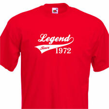 LEGEND SINCE 1972, FUNNY MENS TSHIRT 43rd  BIRTHDAY PRESENT 7 COLOURS 6 SIZES
