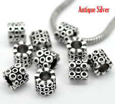 NEW Silver Tone Bubble Loop Spacer Charm Beads Fit European Charm Bracelets