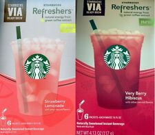 Starbucks Via Refreshers Instant Beverage Natural Energy Green Coffee Extract