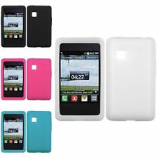 Black/White/Hot Pink/Tropical Teal Silicone Case Soft Skin Cover For LG 840G