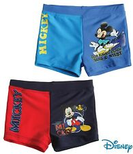 New Boys Mickey Mouse Swimming Shorts Trunks Official Shorts Age 2-8 Years