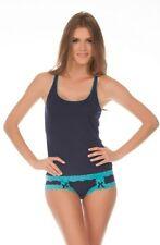 $30 HONEYDEW Sweetheart Rayon & Lace Cami in Blue Moon sizes M L NWT